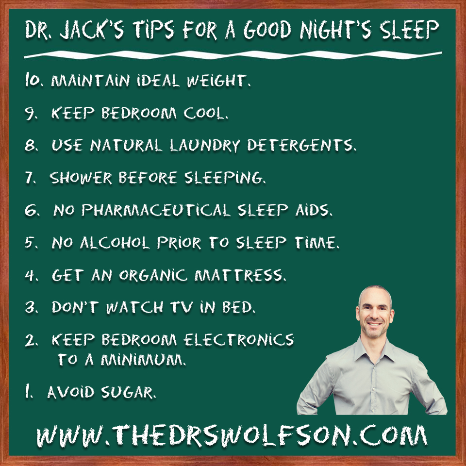 Infographic of Dr. Jack's Suggestions for a Better Night's ...